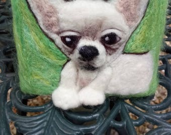 Needle felted dog - Chihuahua