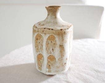 Vintage Mid Century Modern Pottery Vase, Handmade Studio Pottery Vase, Fine Art Ceramics, Museum Quality Handpainted Vase, 1960s