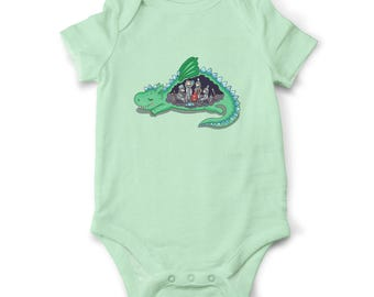 Baby bodysuit - What's inside the Dragon, Baby shower gift