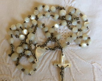 Vintage 1910 Mother of Pearl Rosary