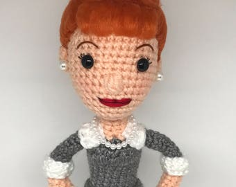 Lucille Ball Crochet Doll Ready to Ship