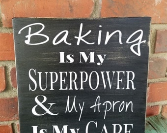Bakers Sign. Housewarming gift, chef gift, bakers gift, bakery sign, kitchen decor, kitchen sign, cooks sign, bakers wood sign, bakers decor