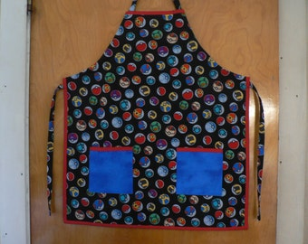 Boys Apron Pokemon Apron Pokeball Apron Boys EX Large Apron (10-12)