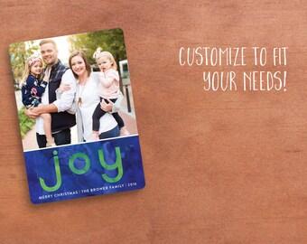 Photo Christmas Card/ Digital Christmas Card/ Joy Christmas Card