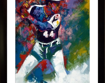 70% SALE - Hank Aaron Real-Art Paper Print of Painting by Painter to Stars, SIGNED by Winford