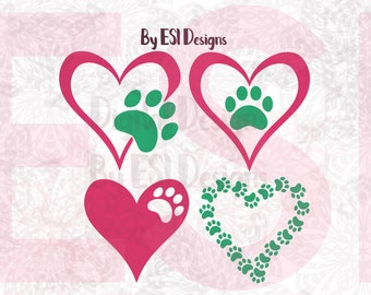 Dog svg, Paw Print svg, - SVG, DXF, EPS and Png, cut files for Silhouette & Cricut Explore, Paw Print svg, Paw svg, Dog svg, Pet svg