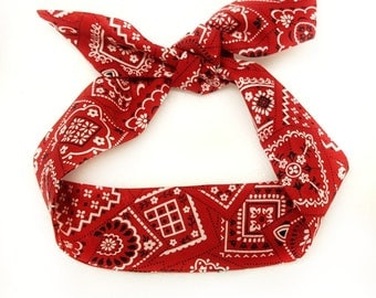 Red Paisley Headwrap,Red Baby bandana ,Red Top Knot,Red Paisley knot headband, photo prop,Top knot,turban,headband