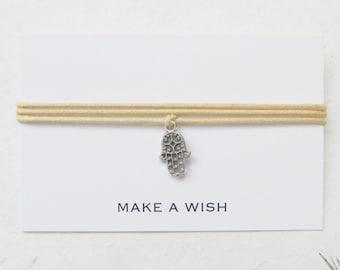 Wish bracelet, make a wish bracelet, hamsa bracelet, W60