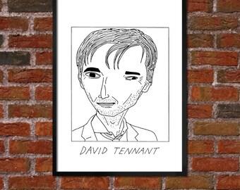 Badly Drawn David Tennant - Poster