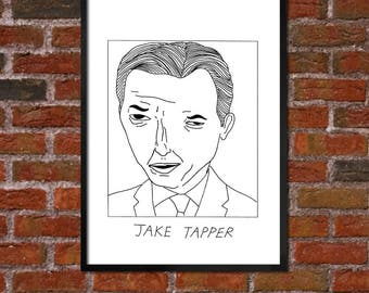 Badly Drawn Jake Tapper - Poster - *** BUY 4, GET A 5th FREE***