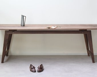 Signature Walnut Desk, Table XL Version [Bespoke sizes!] writing computer minimal office