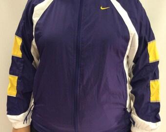 Nike Zip Up Windbreaker Purple White Yellow