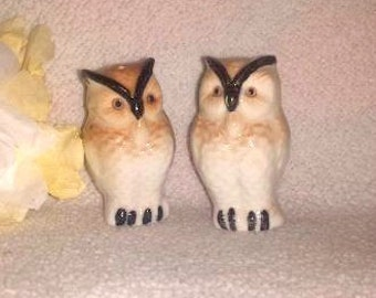Vintage Owl Salt & Pepper Shakers, Owl Shakers, Retro Owl Shakers, Owl Decor, Owl Figures, Collectible Shakers,OWLS
