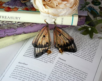 NEW Amber Flower Fairy Wing/ Butterfly Wing Earrings