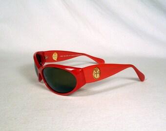 fabulous vintage sunglasses lunettes eyeglasses CASTELBAJAC cat eye carved frame france