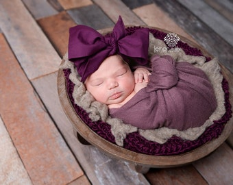 EGGPLANT Gorgeous Wrap- headwrap; fabric head wrap; purple head wrap; boho; newborn headband; baby headband; toddler headband