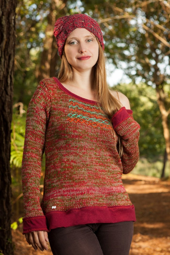 Sweater natural ethnic