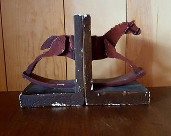Pair Of Vintage Horse Bookends