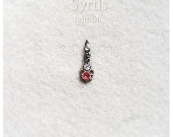 Syrtis - salmon - Bindi for Tribal, Fusion, ATS, oriental bellydance