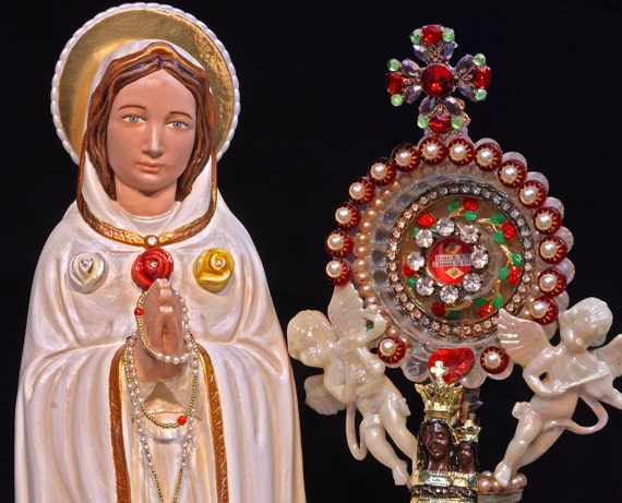 """Rosa Mystica Our Lady Mystical Rose 18"""" Patroness of purity, faith and morals"""