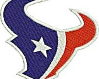 Texans Embroidery Solid fill Instant Download