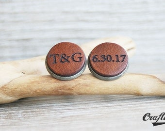 Anniversary Gift for Husband Man, Engraved Cufflinks, Personalized, Gifts for Husband, Birthday Gift for Husband, Wife to Husband Gift