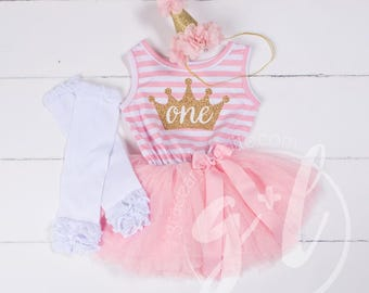 First Birthday outfit, First Birthday dress, Princess dress. 1st birthday outfit, Pink and gold first birthday, tutu dress girls or toddlers