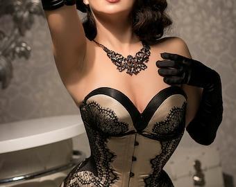 Burlesque lingerie evening dress bra corset and mermaid skirt