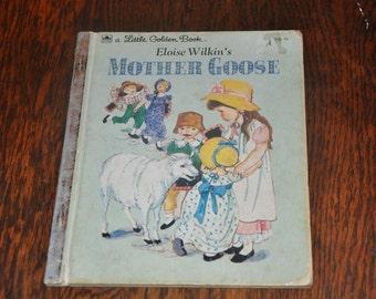VINTAGE 1961 Little Golden Books Mother Goose
