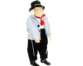 Marionette, Old Man Marionette, Vintage Puppet, Porcelain Marionette, Traditional Marionette, Doll Marionette, Marionette Figurine
