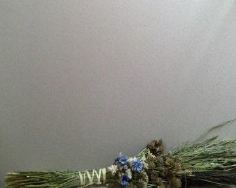 Dried wildflowers bouquet, dried flowers arrangement, vase filler, rustic decor, farmhouse decor, natural raw decor