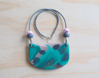 Resin Necklace | Wearable Art | Handmade | The Reef