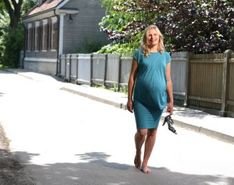 "Nursing Dress ""Balloon"", Custom Color Breastfeeding Dress, Maternity Dress, Maternity Dress for Photo Shoot"