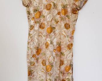 Handmade Silk Dress/Tunic Cotton/Linen Lined
