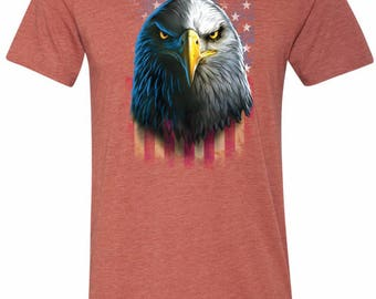 Men's Eagle Stare Tri Blend Crewneck Tee T-Shirt 20412D0-C3413