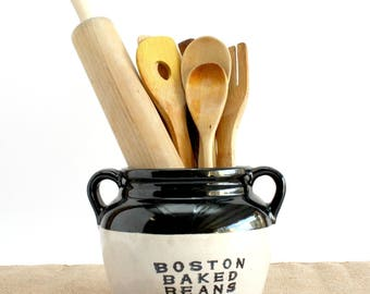 Boston Baked Beans Crock Pot, Vintage Beans Pot, Vintage Kitchen Decor