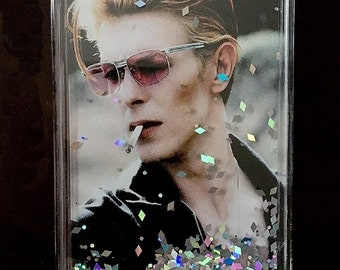 David Bowie Liquid Glitter Stardust Cell Phone Case iPhone  5, 5s, iPhone 6s, 6plus, iPhone 7, 7plus, Samsung Galaxy, Note 4 Note 5