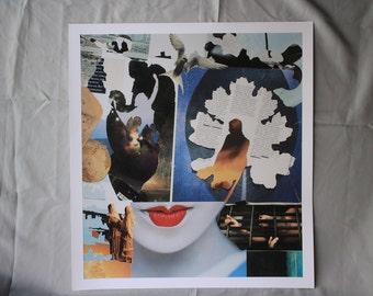 Collage Abstract Surreal Portrait Geisha Magazine cut Giclee print Mermaid shadow