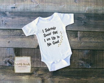 I Solemnly Swear That I Am Up to No Good Harry Potter Shirt | Mischief Managed | Hogwarts Shirt | Harry Potter Gift | Harry Potter Toddler