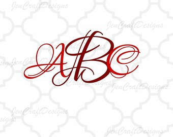 Lovers font SVG DXF EPS Png, Initial Monogram, single letter fancy monogram files svg cutting files for Cricut Shilhouette A to Z