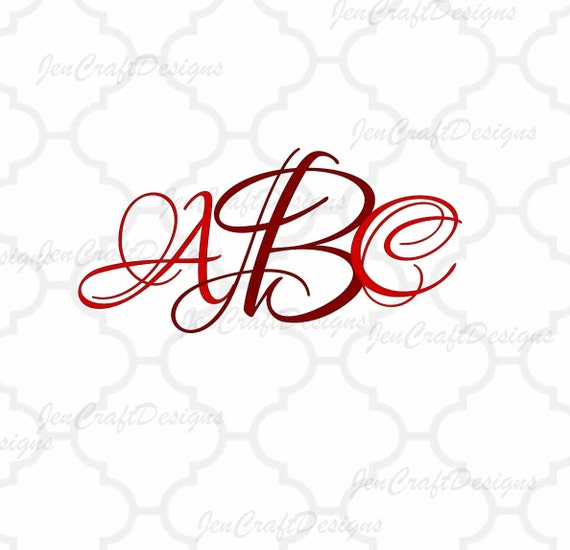 This Would Be Cute To Change Into The Welcome Letter To: Lovers Font SVG DXF EPS Png Initial Monogram Single Letter