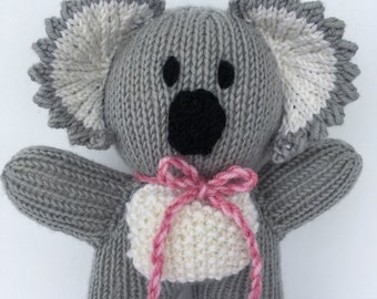 Care to Cuddle KNITTING PATTERN INSTRUCTIONS Knitted Koala and