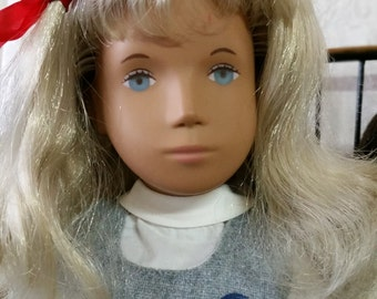 1980's Sasha Doll, blond with School Uniform, Excellent Condition