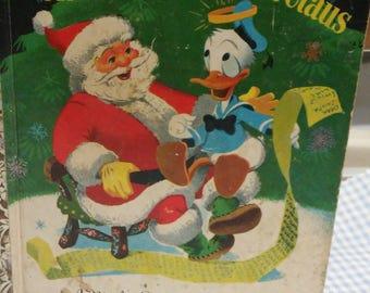 Donald Duck & Santa Claus Little Golden Book D Edition