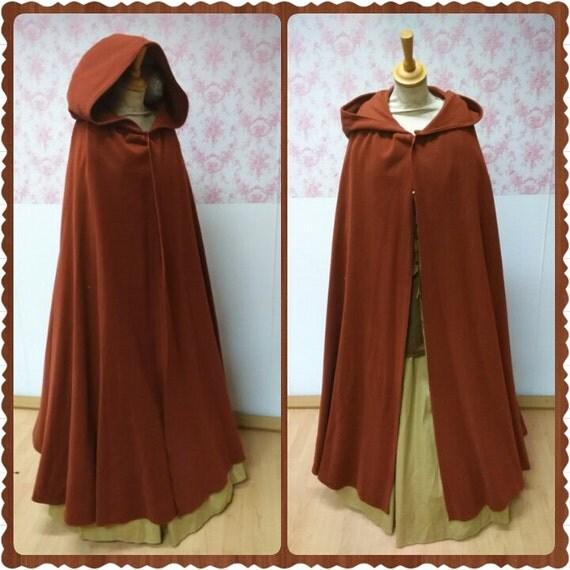 items similar to hooded cloak woolen hooded cape wool. Black Bedroom Furniture Sets. Home Design Ideas