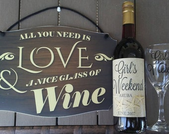 All You Need is Love &...  Hanging Sign