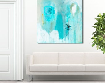 """Large abstract ART PRINT, modern minimalist artwork, large contemporary abstract, pastel wall art, abstract painting PRINT titled """"Sempre"""""""