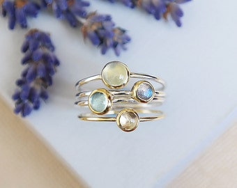 Solid Gold Aquamarine Ring, March Birthstone, Gold Stackable Ring, Aquamarine Ring, 9ct Gold Ring, Gemstone Ring, Birthstone Ring, Gold Ring