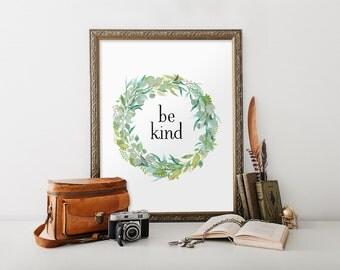 Nursery wall art, Be brave sign, Be brave print, Nursery decor, Nursery art, Wall decor, Home decor, Nursery art print, Printable, BD-036