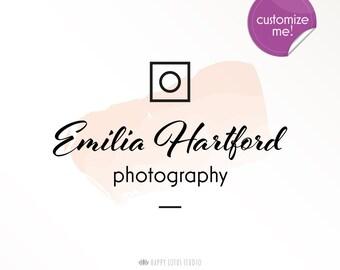 Photographer Logo Design, Custom Logo, Floral logo, Etsy shop logo, Business Logo, Blogger Logo, Writer Logo, Creative Studio, Minimal logo